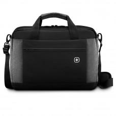 Портфель для ноутбука 16'' WENGER, черный/серый, полиэстер, 43 x 9 x 31 см, 9 л