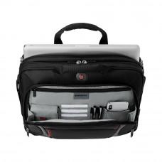 Портфель для ноутбука 15'' WENGER, черный, полиэстер/ПВХ, 40 x 15 x 33 см, 9 л