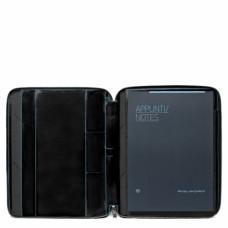 Кожаная папка Piquadro PB1164B2/N для документов А4 и планшета черная