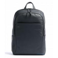 Рюкзак Piquadro CA4762B3/BLU4 большой кожаный серо-синий