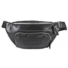 Кожаная поясная сумка Scarlino black (арт. 7018-01)