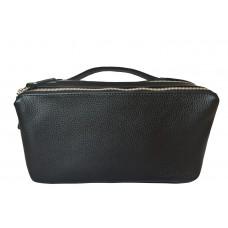 Кожаная поясная сумка Arolla black (арт. 7011-01)