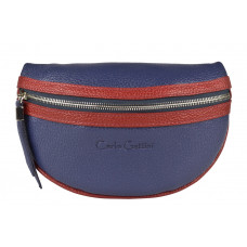 Кожаная поясная сумка Esperita blue (арт. 7012-19)