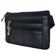 Кожаная поясная сумка Roana black (арт. 7007-01)
