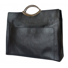 Кожаная женская сумка Serafino black (арт. 8025-01)