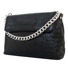 Кожаная женская сумка Aldeno black (арт. 8009-01)