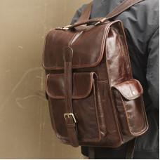Кожаный рюкзак JMD 7283C-1