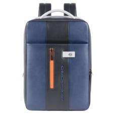 Бизнес-рюкзак кожаный с расширением Piquadro CA4840UB00/BLGR сине-серый