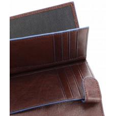 Кожаное вертикальное портмоне Piquadro PU1740B2SR/TM коричневое