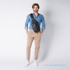 Рюкзак с одной лямкой Piquadro CA4536UB00/BLGR кожаный сине-серый