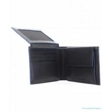 Кожаное горизонтальное портмоне Piquadro PU1392B2SR/BLU синее