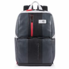 Бизнес-рюкзак кожаный Piquadro CA3214UB00/GRN черно-серый