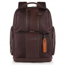 Рюкзак Piquadro Brief CA4439BRBM/TM темно-коричневый из натуральной кожи, ткани