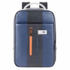 Бизнес-рюкзак кожаный с расширением Piquadro CA4841UB00/BLGR сине-серый