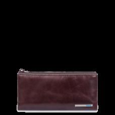 Ключница Piquadro PC1514B2/MO на молнии красно-коричневая
