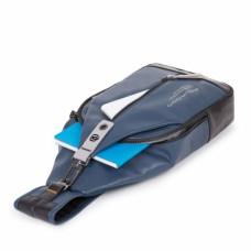 Рюкзак с одной лямкой Piquadro CA4536DT/BLU кожаный синий