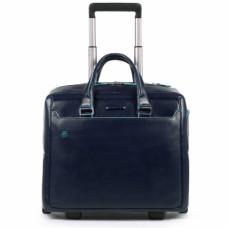Дорожная сумка для ручной клади Piquadro BV4729B2/BLU2 кожаная синяя