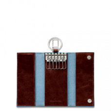 Ключница Piquadro PC1397B2/MO красно-коричневая