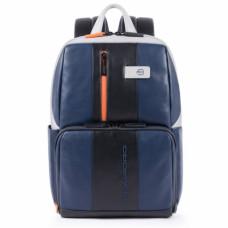 Бизнес-рюкзак кожаный Piquadro CA3214UB00/BLGR сине-серый