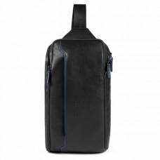 Рюкзак с одной лямкой Piquadro CA5107B2S/N мужской кожаный черный