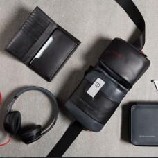 Поясная сумка Piquadro CA4975UB00/GRN кожаная черно-серая
