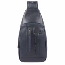 Рюкзак с одной лямкой Piquadro CA4536UB00/BLU кожаный синий