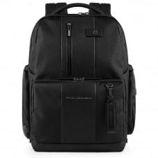 Рюкзак Piquadro Brief CA4439BRBM/N черный натуральная кожа / ткань