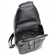 Рюкзак с одной лямкой Piquadro CA4536UB00/N кожаный черный
