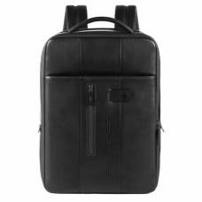 Бизнес-рюкзак кожаный с расширением Piquadro CA4840UB00/N черный
