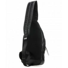 Рюкзак с одной лямкой Piquadro CA4536DT/N кожаный черный