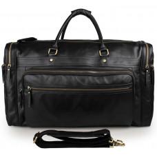 Дорожная кожаная сумка JMD 7317-1A