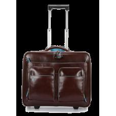 Дорожная сумка Piquadro CA3338B2/MO кожаная красно-коричневая