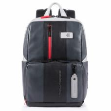 Бизнес-рюкзак кожаный Piquadro CA3214UB00BM/GRN черно-серый