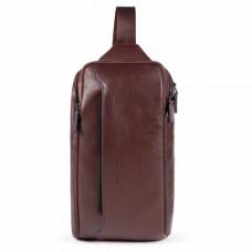 Рюкзак с одной лямкой Piquadro CA5107B2S/TM мужской кожаный коричневый