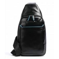 Рюкзак с одной лямкой Piquadro CA4827B2/N кожаный черный