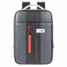 Бизнес-рюкзак кожаный с расширением Piquadro CA4841UB00/GRN черно-серый
